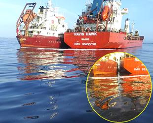 Kumkapı'da yakıt ikmali yapılan gemiden denize yakıt sızdı