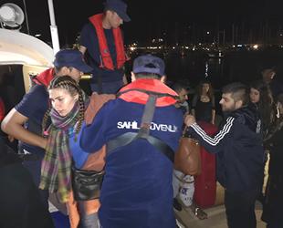 Lüks yatı çalarak Yunanistan'a kaçmaya çalışan göçmenler yakalandı