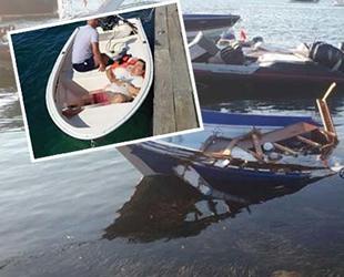 Bodrum'da motor yat ile çatışan balıkçı teknesi battı