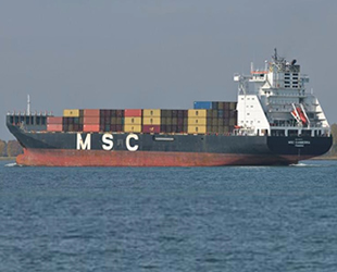 MSC Canberra isimli kargo gemisinde yangın çıktı