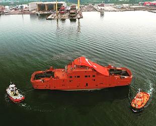 Cemre Tersanesi, Bombla Fjord isimli gemiyi suya indirdi