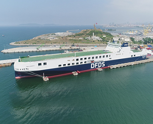 DFDS, 'Troy Seaways' adı verilen yeni Ro-Ro gemisini Türkiye'nin hizmetine sundu