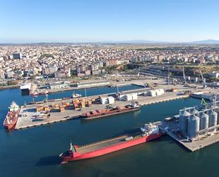 Çelebi Bandırma Limanı'nın yük hacmi yüzde 12 arttı