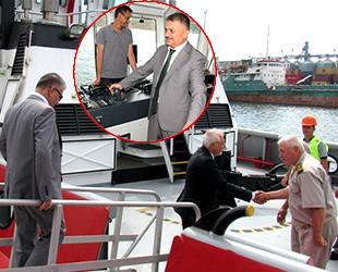 Balıkesir Valisi Ersin Yazıcı, Çelebi Bandırma Limanı'nda incelemelerde bulundu