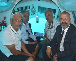 Turistik denizaltı Nemo Primero ile Akdeniz'ini mavi derinliklerine indiler