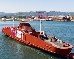 Cemre Tersanesi, AUSTRHEIM isimli gemiyi denize indirdi