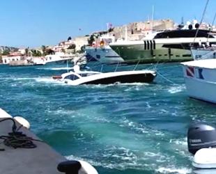 Çeşme'de su alan yattaki 6 kişiyi Sahil Güvenlik ekipleri kurtardı