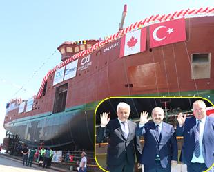 Tersan Tersanesi'nin inşa ettiği 'Calvert' isimli balıkçı gemisi denize indirildi