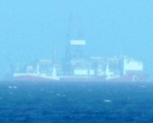 Yavuz sondaj gemisi, Kıbrıs açıklarında ilk kez görüntülendi