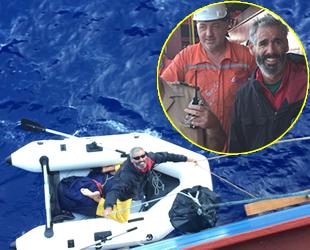 TURKON Line gemisi, Atlantik Okyanusu'nda bir kazazedeyi kurtardı
