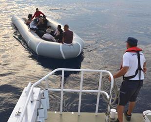 Kuşadası Körfezi'nde 9 düzensiz göçmen yakalandı