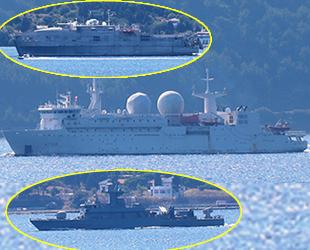 ABD, Yunan ve Fransız savaş gemileri, Çanakkale Boğazı'ndan geçti