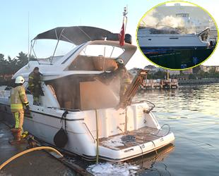 Ataköy ve Pendik'teki marinalarda yangın çıktı
