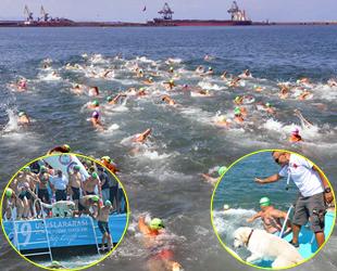 2. Uluslararası Açık Su Yüzme Yarışları yapıldı