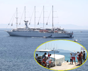 'Club Med 2' isimli yolcu gemisi Didim açıklarına demir attı