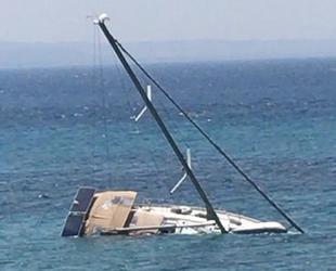 Bodrum'da Rapsodi isimli tekne battı: 2 kişi son anda kurtarıldı...