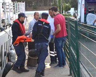 Felç geçiren kişinin tıbbı tahliyesini Sahil Güvenlik ekipleri gerçekleştirdi