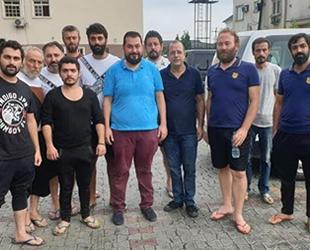 Nijerya'da kurtarılan 10 Türk denizci Türkiye'nin Abuja Büyükelçiliği'ne getirildi