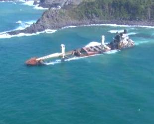 Şile'de karaya oturan 'Natalia' isimli kargo gemisi kaderine terk edildi