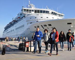 Yılın ilk 7 ayında Türkiye limanlarına 161 kruvaziyer gemisi yanaştı