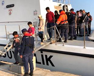 Enez'de 42 düzensiz göçmen yakalandı