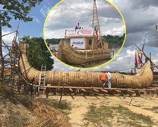 Kamıştan inşa edilen ABORA-IV isimli gemi, iki gün İstanbul'da kalacak