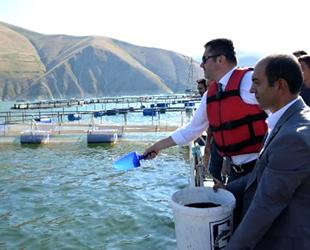 Erzurum'da gölet ve havuzlar balık bolluğu yaşanıyor