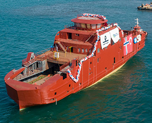 Cemre Tersanesi, Havyard Group için inşa ettiği 50'nci gemiyi denize indirdi
