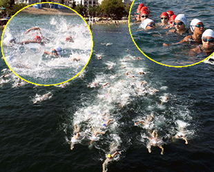 Karamürsel'de Açık Su Yüzme Şampiyonası nefes kesti