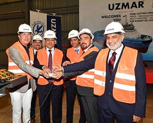 UZMAR'ın Kuveyt'e inşa edeceği römorkörün çelik kesme töreni yapıldı