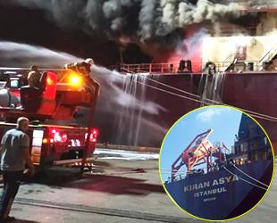 İskenderun'da buğday yüklü 'Kıran Asya' isimli kargo gemisinde yangın çıktı