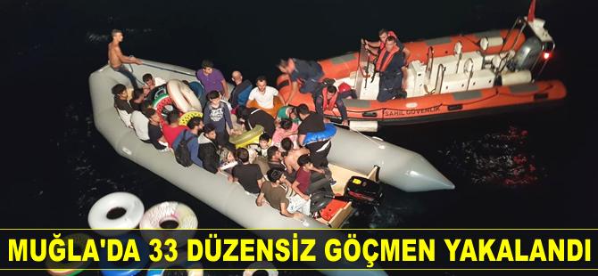 Datça'da 33 düzensiz göçmen yakalandı