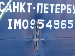 Halat koparan gemi, iskeleye bağlı gemiyle çatıştı