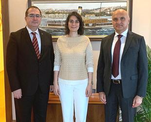 Türk Loydu Yönetimi, Sinem Dedetaş'ı ziyaret etti