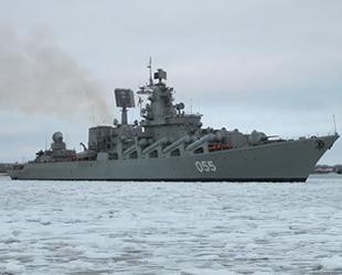 Rus Mareşal Ustinov füze kruvazörü, Aksaz Donanma Üssü'ne demirledi