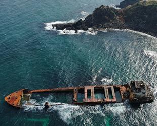 Şile'de karaya oturan 'Natalia' isimli geminin yüzdürülemeyeceği tespit edildi