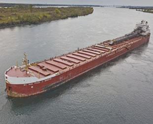 'RT.HON.PAUL J.MARTIN' isimli kargo gemisi, karaya oturdu