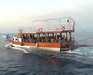 Tur teknesiyle Yunanistan'a kaçmaya çalışan göçmenler yakalandı