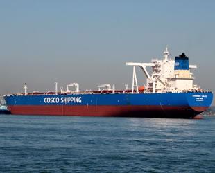 COSCO Dalian gemileri, AIS sistemlerini kapattı