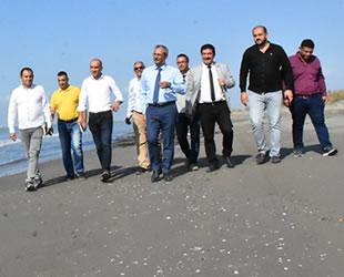 Tarsus Plajı'nın halka açmak için çalışma başlatıldı