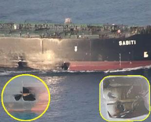Saldırıya uğrayan 'Sabiti' isimli İran tankerinin yeni görüntüleri ortaya çıktı