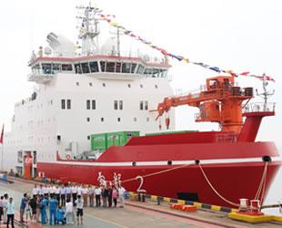 'Xue Long 2' isimli Çin'in ilk yerli üretim buzkıran gemisi sefere çıktı