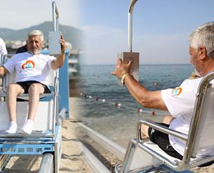 Alanya'da 'Engelsiz Plaj Asansörü' hayata geçirildi