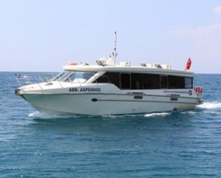 Antalya'da deniz otobüslerinin seferleri sonlandırıldı