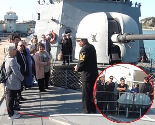 TCG Mızrak hücumbotu, Bartın Limanı'nda ziyarete açıldı
