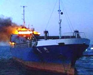 Hazar Denizi'nde SOCAR'a ait gemide patlama meydana geldi