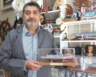 Emekli astsubay Yusuf Akmeşe'nin maket gemi hobisi mesleği oldu