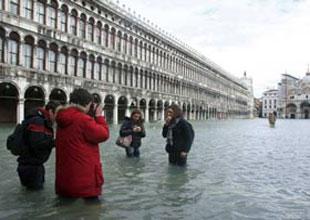 Venedik'te su seviyesi 123 cm yükseldi