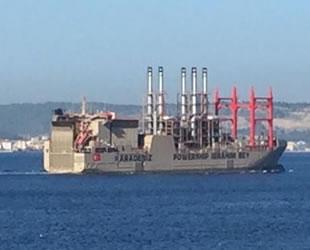 'İbrahim Bey' enerji gemisi, Çanakkale Boğazı'ndan geçti