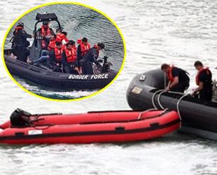 Manş Denizi'ni lastik botlarla geçmeye çalışan 39 İranlı yakalandı
